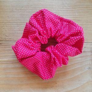 Red Polka Dot Scrunchie